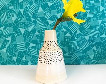 Dotted Bud Vase