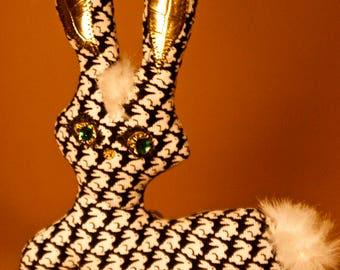the Emerald eyes thoughtful rabbit