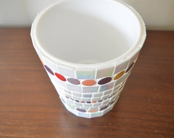 Mosaic Planter, handmade
