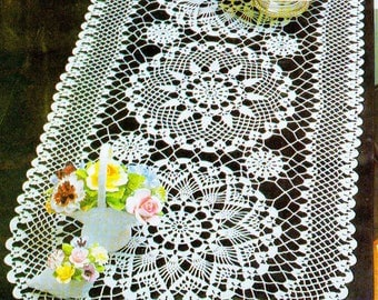 Oval crochet doily hand crocheted 31.5*14