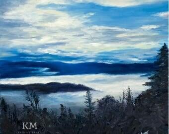 Yellowstone Blue,  Giclée Print