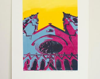Cathedral of St. John the Baptist - 5 color screen print (6/6)