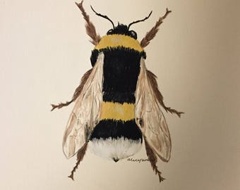 Hand painted bumble bee
