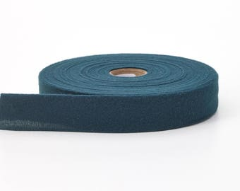 "Quilt binding, brushed, 2"" fold in half, finish 1"", 25 yds, Forest Green"