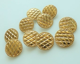 Chanel Vintage Quilted Buttons 22mm