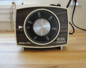 Vintage Intermatic Interval Timer 60 Minute 1 Hour Woodgrain TESTED WORKS