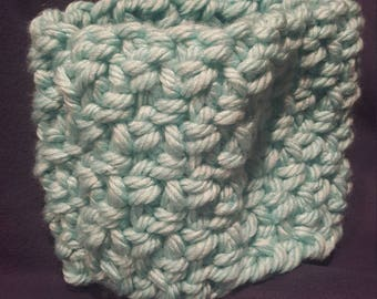 Teal chunky neck gaiter / scarf