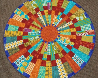 Circle Quilt made with A Stitch in Color collection