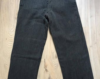 1910's French Workwear Striped Pants
