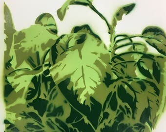 Plant Spray Paint Art