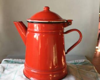 Coffee pot, enamelled