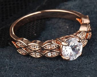 Special Order For Victoria ~ Do Not Buy!  Rose Gold Engagement Ring