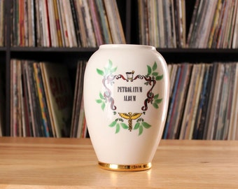 large vintage french apothecary jar or vase. Petrolatum Album ceramic jar