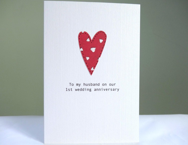 1st Anniversary Card personalised wedding anniversary card