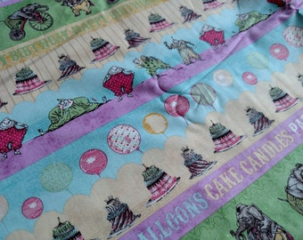 Hullabaloo by Iron Orchid Designs for Clothworks Happy Birthday Kids Fabric  5 yards total. Pls. Read Description, More Lots Available
