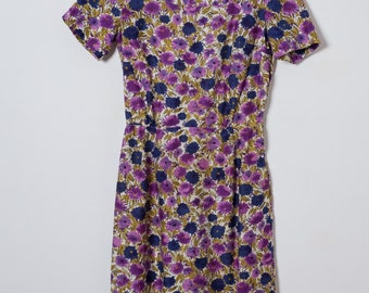 Size XS extra small 1960s Floral Sheath Dress