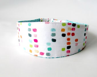 Fabric Headband, Reversible Teen Headband, Women Headband, Adult Headband, Hair Fashion Accessories, Fabric Headband for Women  Watercolor