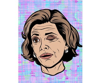 Lucille Bluth Winking Print