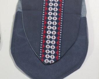 Denium belt pouch/purse medieval