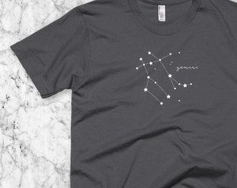 Gemini T-Shirt, Astrological sign shirt, Zodiac birthday gift, Gemini Constellation tee, May or June Birthday Men or Women