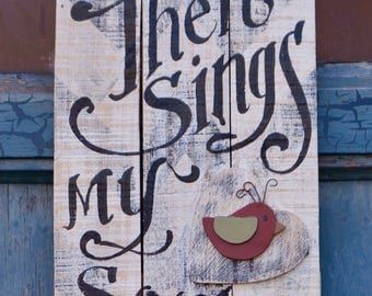 Then Sings my Soul  - Wood sign READY to SHIP! - homeschool - Psalms - scripture verse - hymn