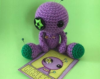 Giggles the Amigurumi Purple Voodoo Doll