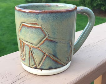 Ceramic Mug - Elephant Mug - Handmade Ceramics and Pottery