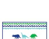 Custom Order for Melissa K of 100 folded Dino Stationery cards and envelopes