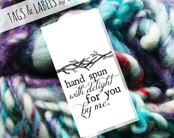 Printable PDF Tags - Hand Spun with Delight Yarn Labels