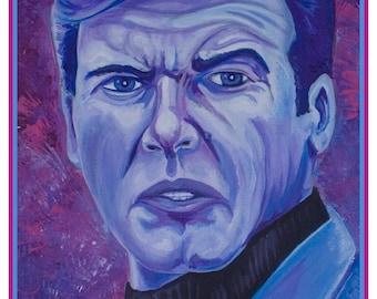 Moore. Roger Moore. James Bond 007 ART PRINT