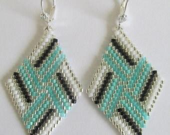 Seed Bead Earrings - Copyright 2014 - Patti Ann McAlister -Diamond Shape