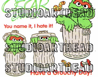 Sesame Street Oscar the Grouch Sticker Sheet