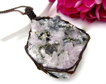 Amethyst crystal necklace, Amethyst cluster necklace, raw Amethyst,  purple druzy, February Birthstone, Organic raw jewelry, Birthday