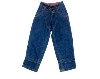 Vintage 80s Pants - 80s Landlubber Pants - High Waist Pants - Paper Bag Waist - 80s Jeans - Wide Leg Jeans - M L - High Waist Jeans - Denim
