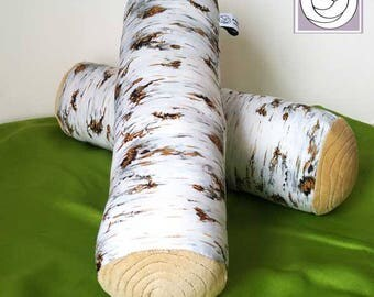 Waldorf Nature Table Birch Log, Soft Toy made from Natural Materials