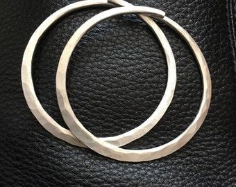 Sterling Silver Gauges / Gauged Hoop Earrings Sterling Silver Hoops Gauged Hoops Gauged Earrings Hoop Earrings DanielleRoseBean Ear Weights