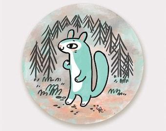 """Squirrel 3"""" Vinyl Sticker"""