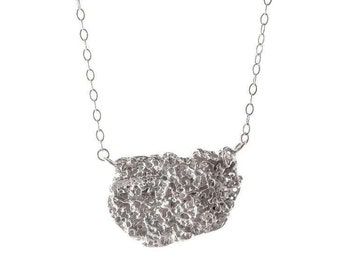 Holey Shell Sterling Silver Necklace