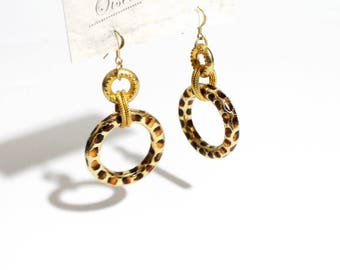 Vintage Safari Hoops Dangling Earrings
