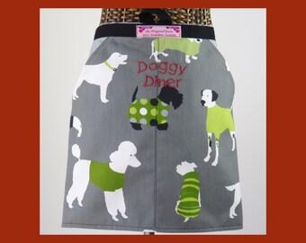 Dog Lovers Apron-Ladies Apron-Half apron-Peg apron-Girls apron-Womans apron