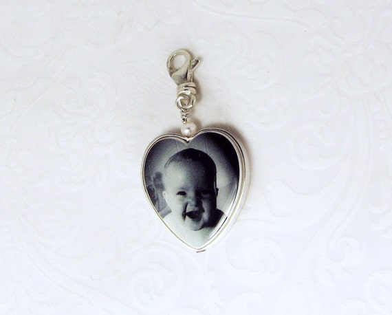 Heart Photo Pendant Framed in Sterling Silver - FP12CN