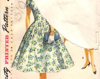 1950s Simplicity 1510 UNCUT Vintage Sewing Pattern Misses Formal Dress, Party Dress, Full Skirt Dress, Slim Dress Size 12 Bust 30