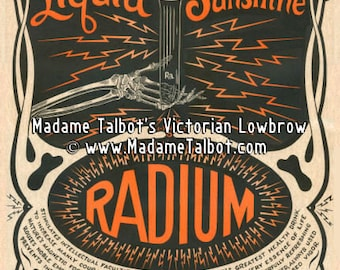Liquid Sunshine Radium Poster Hand Illustrated and Designed by Madame Talbot