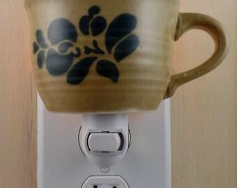 Pfaltzgraff  FOLK ART  Pattern Custom Made Tea Cup Night Light
