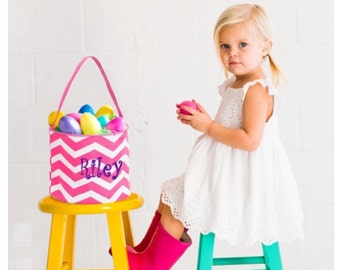 Personalized Easter Basket Bucket monogrammed tote bag