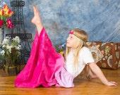 Girl's Maxi skirt - Boho maxi skirt - Toddler Maxi skirt - long skirt - tie dye skirt - Easter skirt - Bohemian skirt - pink skirt - maxi