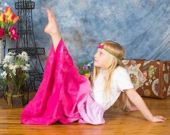 Girl's Maxi skirt - Boho maxi skirt - Toddler Maxi skirt - long skirt - tie dye skirt - Summer skirt - Bohemian skirt - pink skirt - maxi
