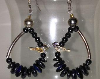 Pearly Birdie Earrings