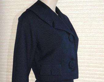 Donny Twist Navy Worsted Wool Two Piece Suit