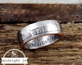Coin Ring 1992 US Quarter Double Sided Coin Ring